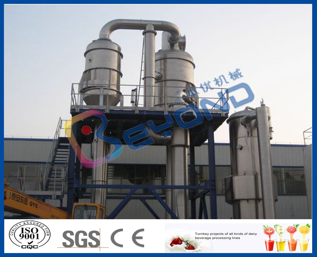 SUS304 SUS316 Forced Circulation Evaporator / Multiple Effect Evaporator For Juice Industry