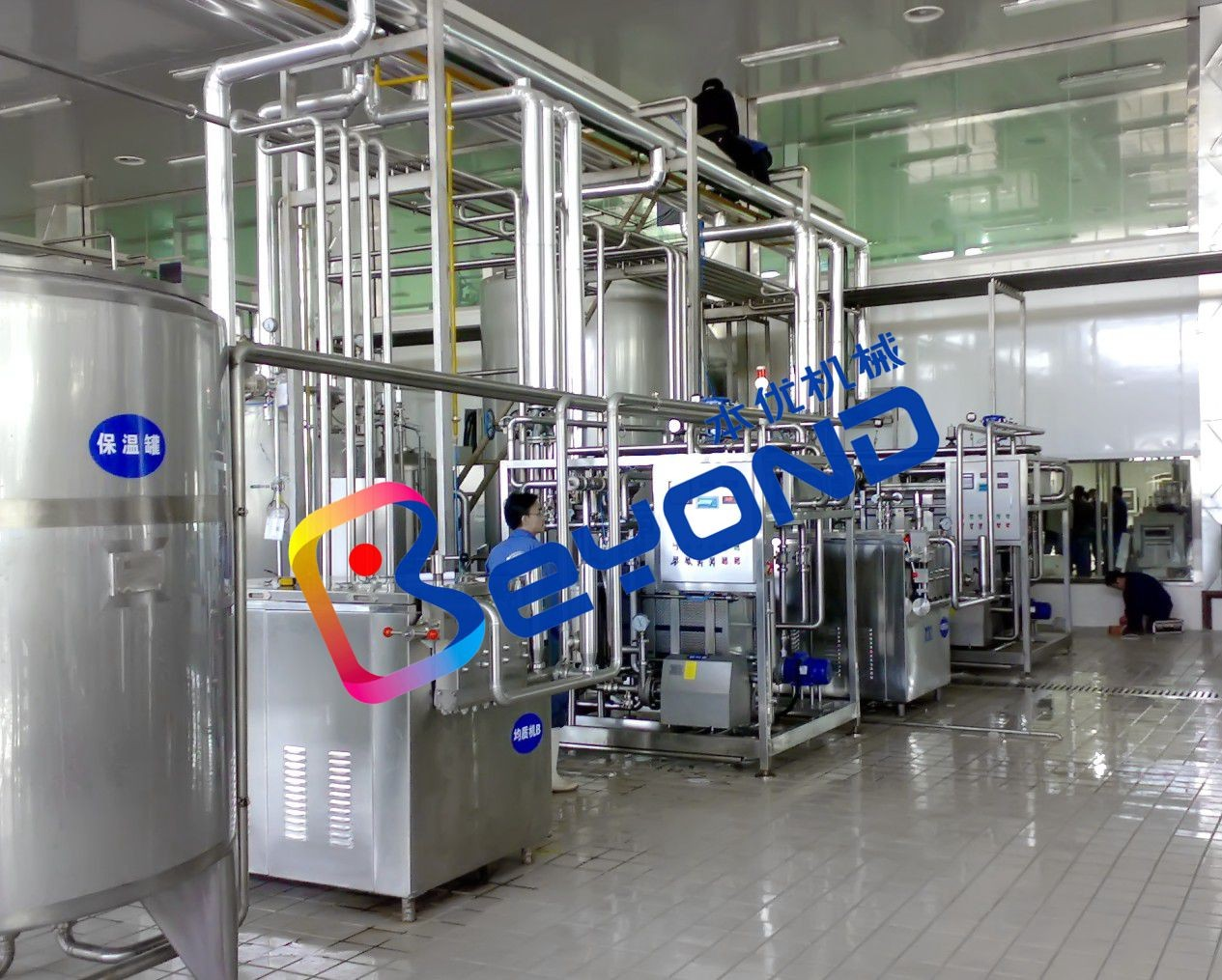 High Efficiency Dairy Processing Plant With Plastic Pouch Packaging Machine