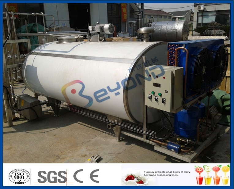 SUS304 SUS316 Self Cooling Stainless Steel Tanks For Fresh Milk Cooling
