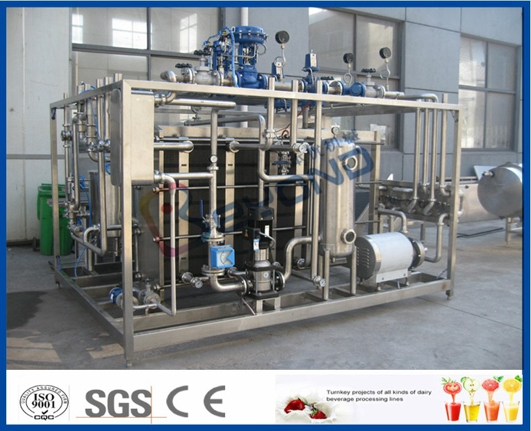 500L Plate Type Milk Pasteurization Equipment With Dairy Heat Exchanger