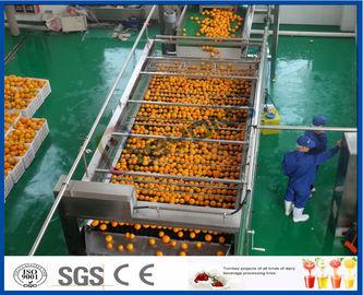 línea de transformación anaranjada de naranja 10TPH del extracto automático del zumo para el jugo que hace la fábrica